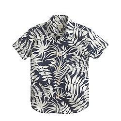 Boys' Secret Wash short-sleeve shirt in fern print