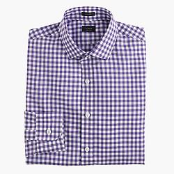 Ludlow shirt in deep grape gingham