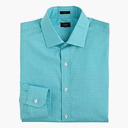 Crosby shirt in aqua gingham