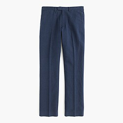Bowery classic pant in glen plaid cotton-linen