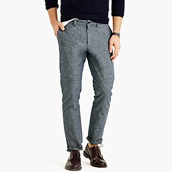 Flecked chambray chino in 484 fit