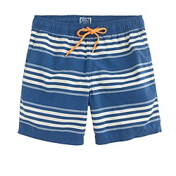 "6"" swim trunk in deep cove stripe"