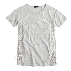 Lace-up tunic T-shirt