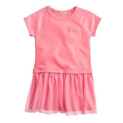 Girls' mesh T-shirt dress