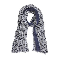 Peacock diamond scarf