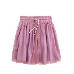 Girls' pull-on mesh skirt