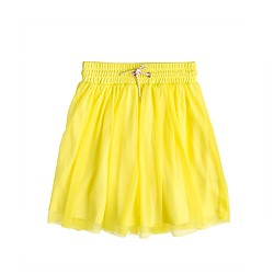 Girls' pull-on mesh skirt