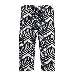 Girls' everyday capri leggings in block print