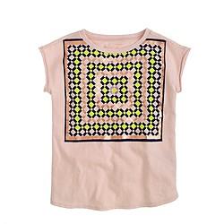 Girls' metallic kaleidoscope T-shirt