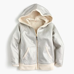 Girls' sparkle zip hoodie