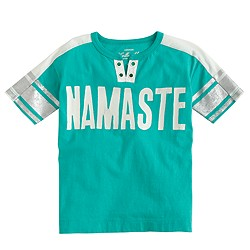 Girls' namaste T-shirt