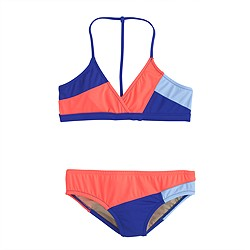 Girls' bikini set in multi colorblock