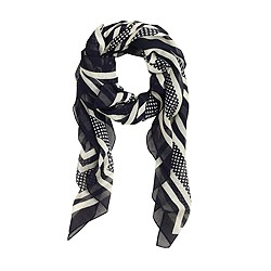 Stripes-and-dots scarf