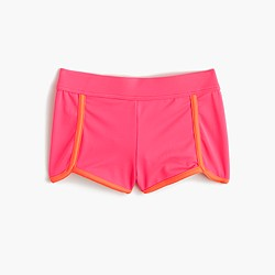 Girls' colorblock sporty swim short