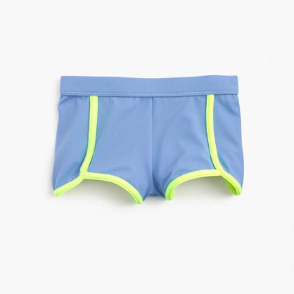 Girls' colorblock sporty swim short