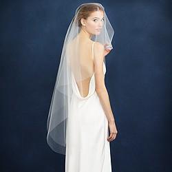 Twigs & Honey® single layer fingertip veil