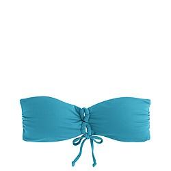 Italian matte bandeau bikini top