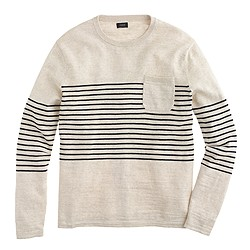 Textured cotton beach sweater