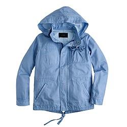 Summerweight hooded utility jacket