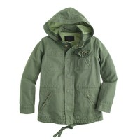 Summerweight hooded utility jacket