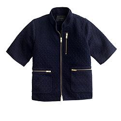 Cropped matelassé jacket