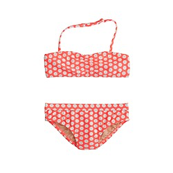 Girls' bikini set in staggered dot
