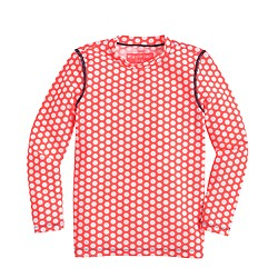 Girls' rash guard in staggered dot