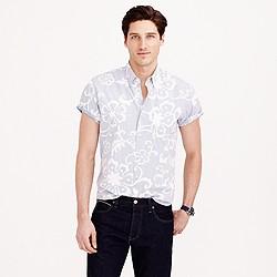 Secret Wash short-sleeve shirt in blue jasmine floral