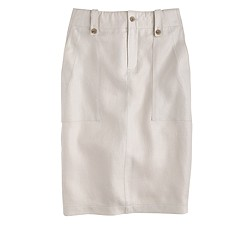 Petite linen cargo pencil skirt