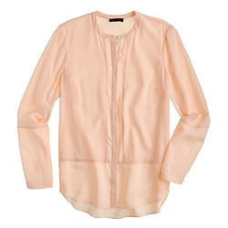 Collection ladder-stitch silk blouse