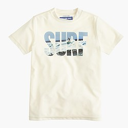 Boys' short-sleeve surf rash guard