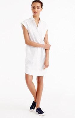 Short-sleeve cotton shirtdress
