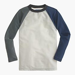 Boys' rash guard with baseball sleeves