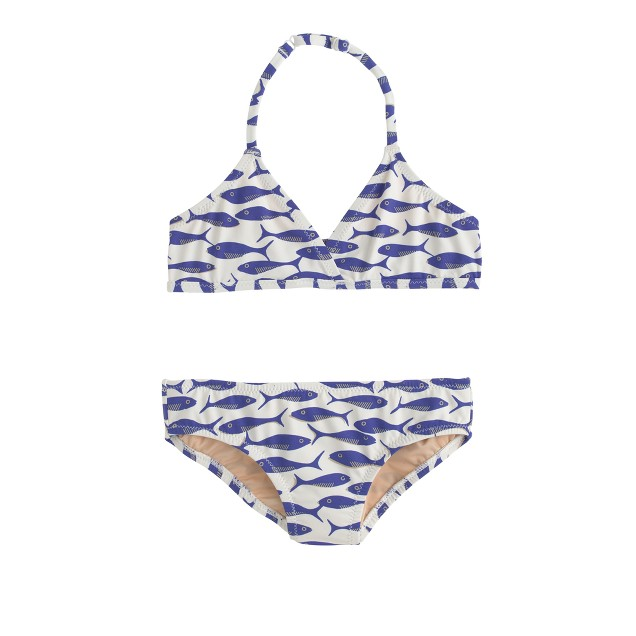 Girls' bikini set in minnows