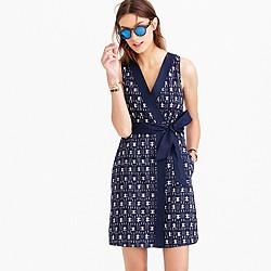Petite ikat wrap dress
