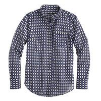 Boy shirt in jet-set geo