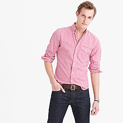 Slim lightweight oxford shirt in summertime gingham