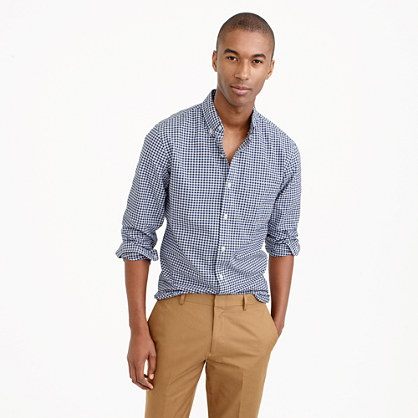 Lightweight oxford shirt in summertime gingham