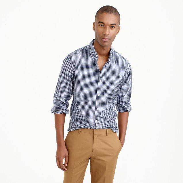 Tall lightweight oxford shirt in summertime gingham