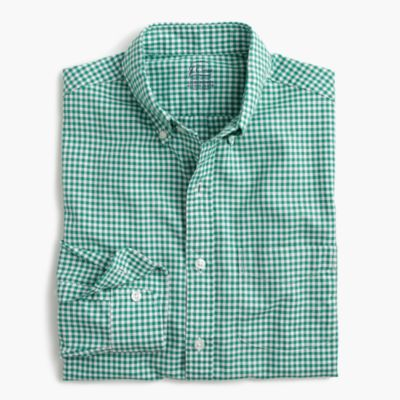 Slim lightweight oxford shirt in summertime gingham