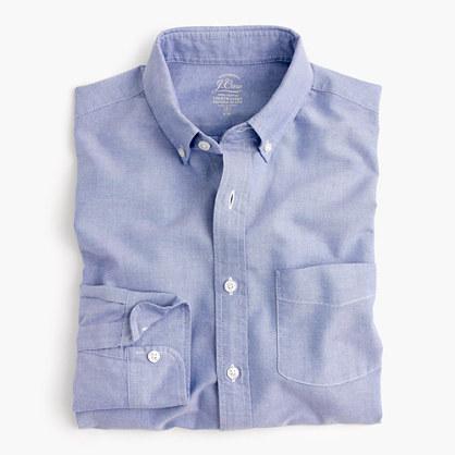 Slim lightweight oxford shirt in solid