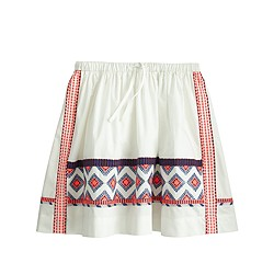 Girls' embroidered pull-on skirt