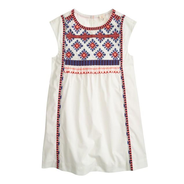 Girls' embroidered sundress