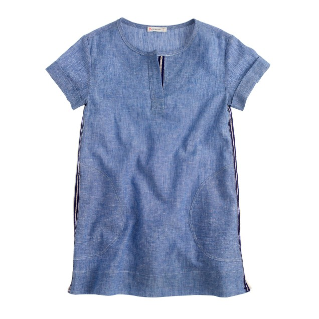Girls' chambray shift dress
