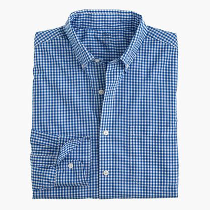 Slim lightweight Secret Wash shirt in gingham