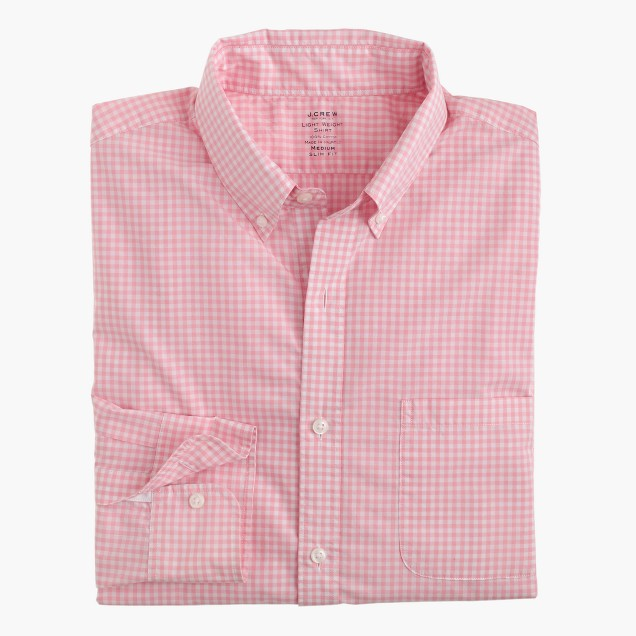Slim lightweight Secret Wash shirt in gingham
