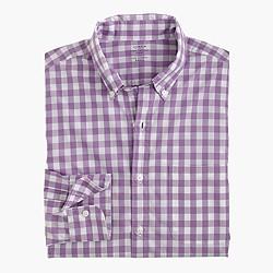 Lightweight Secret Wash shirt in grape gingham