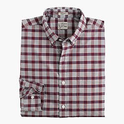 Secret Wash shirt in end-on-end sportsman red check