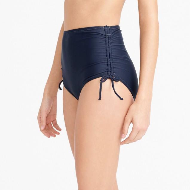 Ruched high-rise bikini brief