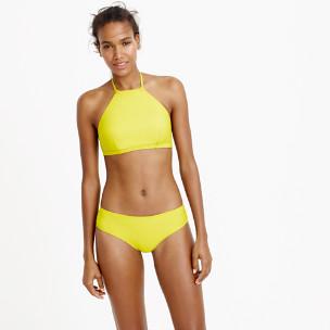 Cropped halter bikini top